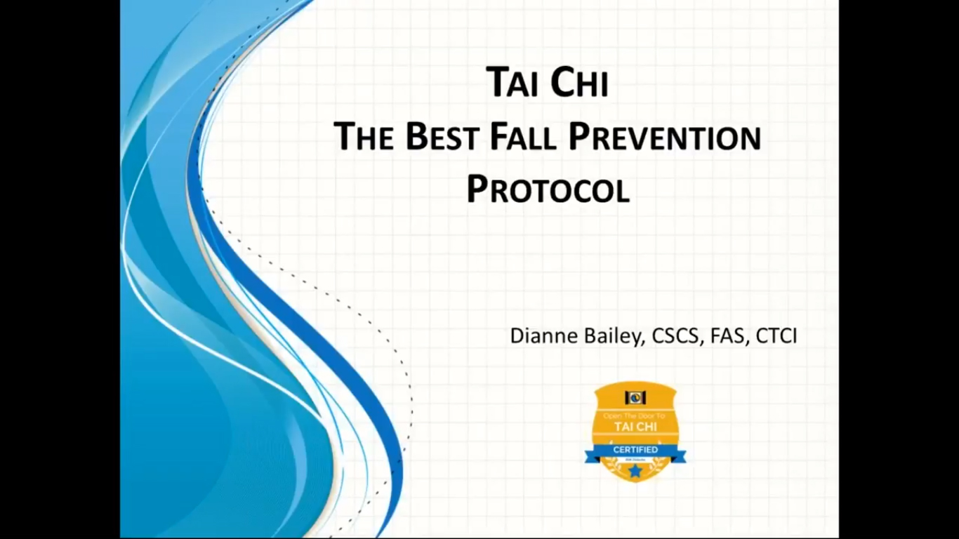 Tai Chi: The Best Fall Prevention Protocol
