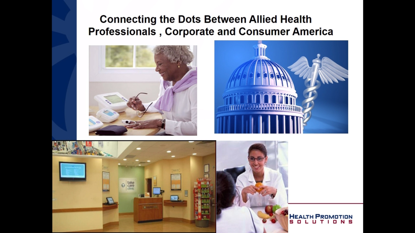 Connecting the Dots Between Fitness and Allied Health Professionals and Corporate and Consumer America