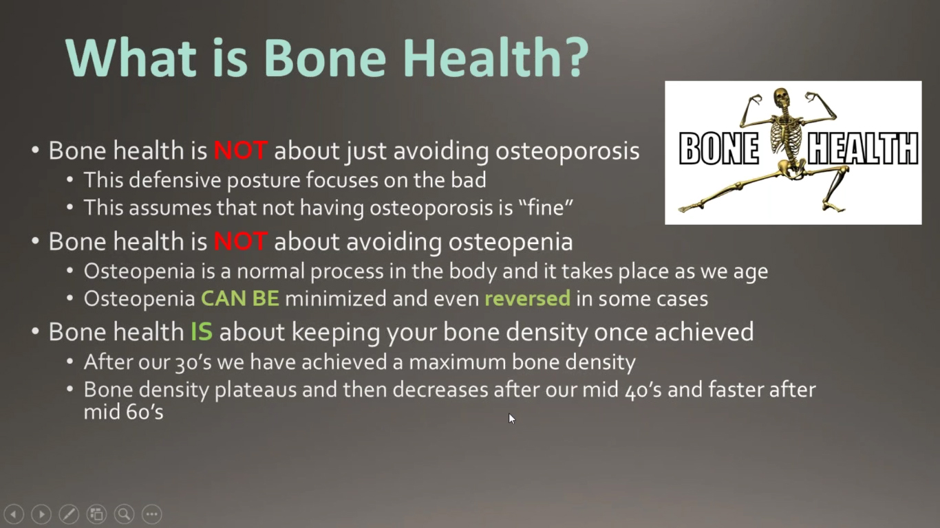 Exercise & Nutrition for Bone Health
