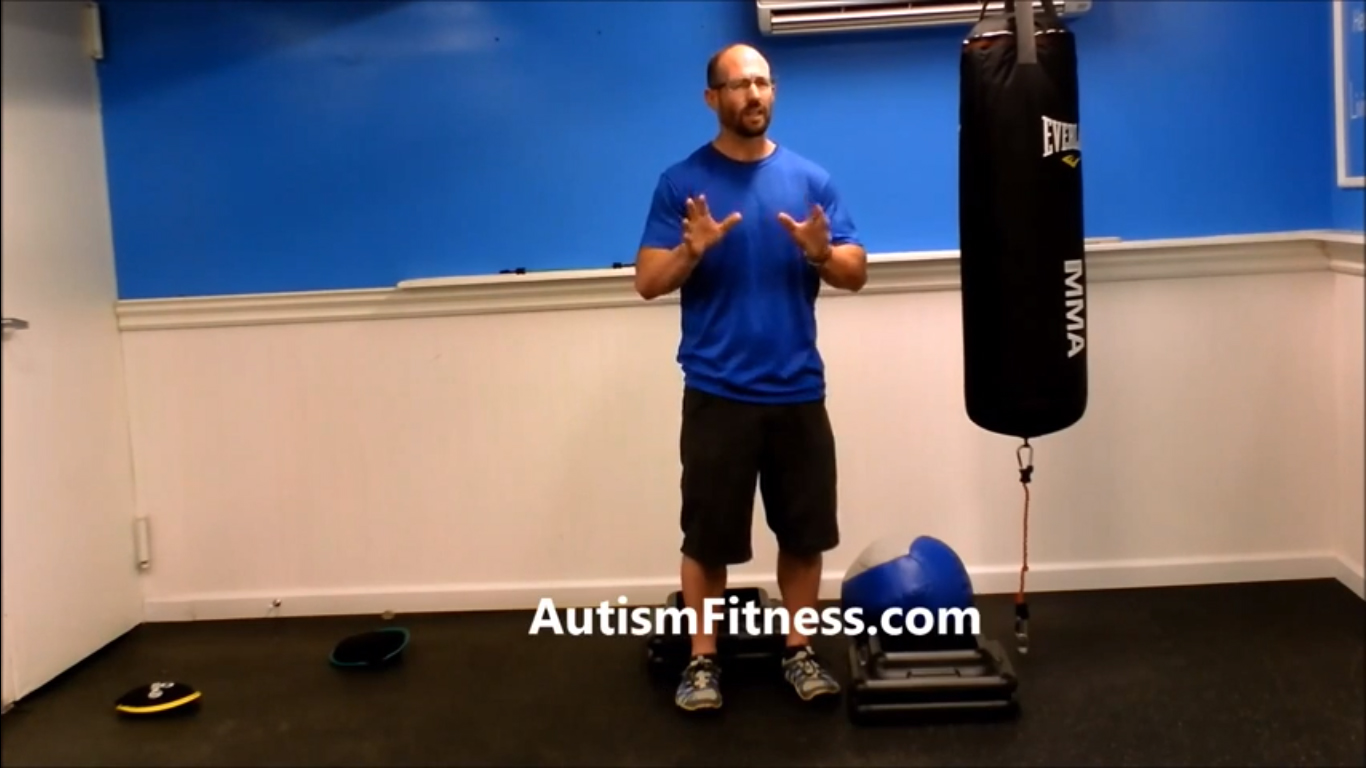Autism Fitness Concepts: Tall Athlete Squat Regression