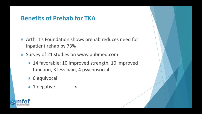 Knee and Hip PREhabilitation