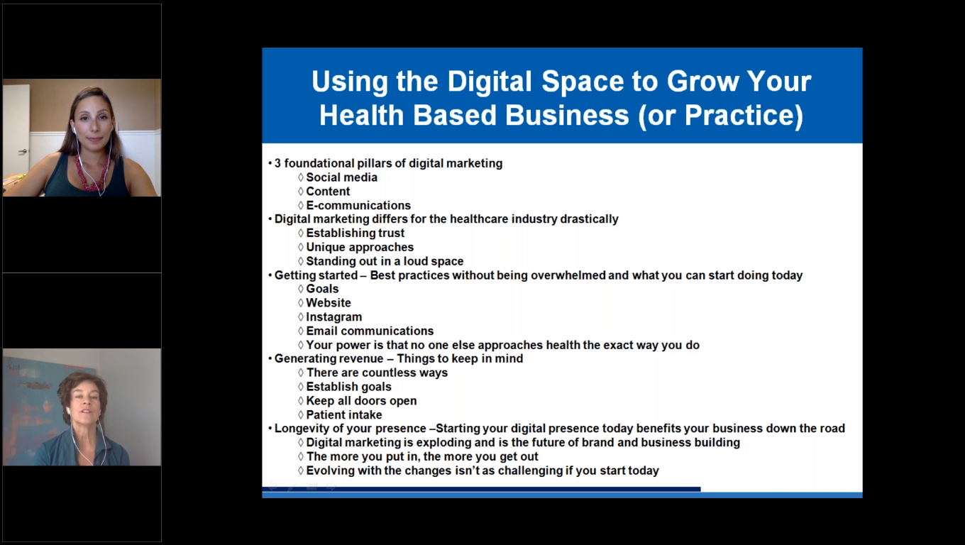 Using the Digital Space to Grow Your Health Based Business or Practice
